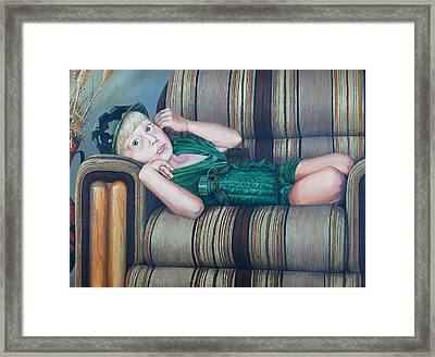 Tired Warrior Framed Print by AnnaJo Vahle
