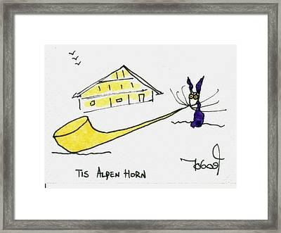 Tis Alpenhorn Framed Print by Tis Art