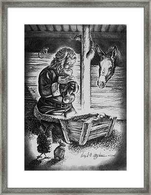 Tis The Reason For The Season Framed Print by Virgil Stephens