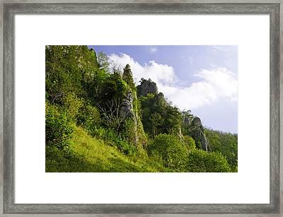 Tissington Spires Framed Print by Rod Johnson