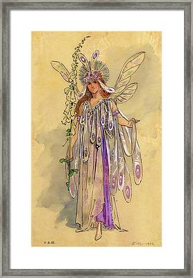 Titania Queen Of The Fairies A Midsummer Night's Dream Framed Print by C Wilhelm