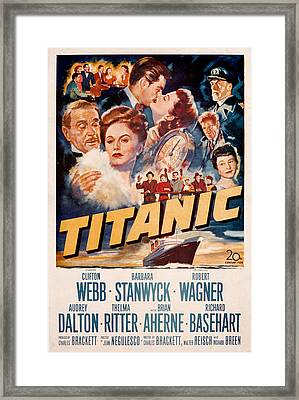Titanic, Clifton Webb, Barbara Framed Print by Everett