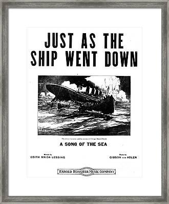 Titanic: Sheet Music, 1912 Framed Print by Granger