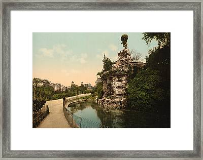 Titon Fountin In Beziers - France Framed Print by International  Images