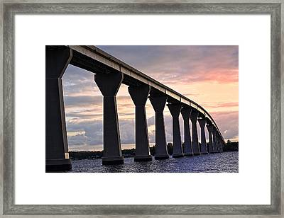 Framed Print featuring the photograph Tj Bridge by Kelly Reber