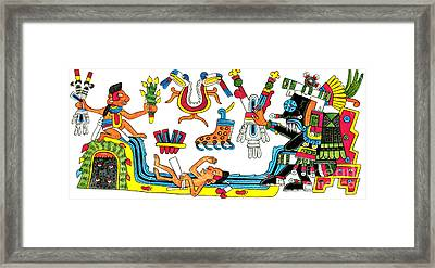 Tlaloc, Aztec God Of Rain, 15th Century Framed Print by Photo Researchers