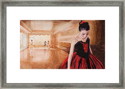 To Dance To Dream Framed Print by Kathy Michels