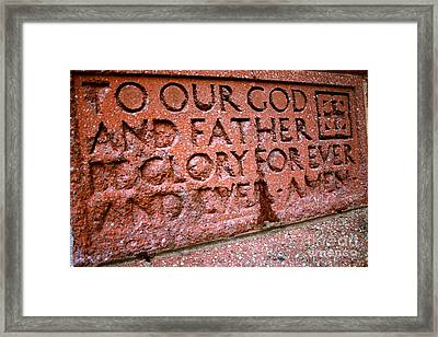 To God Be The Glory Framed Print by Ted Wheaton