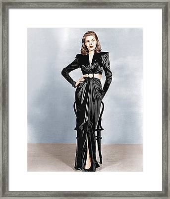 To Have And Have Not, Lauren Bacall Framed Print by Everett