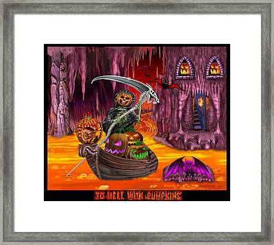 To Hell With Pumpkins Framed Print by Glenn Holbrook