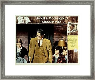 To Kill A Mockingbird, Gregory Peck Framed Print by Everett