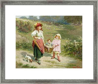 To Market To Buy A Fat Pig Framed Print by Edwin Thomas Roberts