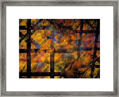 To See The Fire Framed Print
