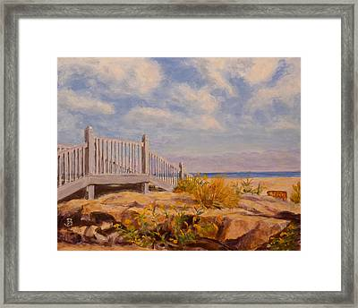 Framed Print featuring the painting To The Beach by Joe Bergholm