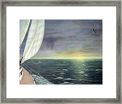 To The Breaking Sky Framed Print by Jim Ziemer
