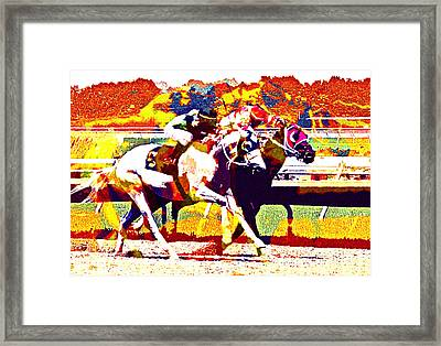 Framed Print featuring the photograph To The Finish by Alice Gipson