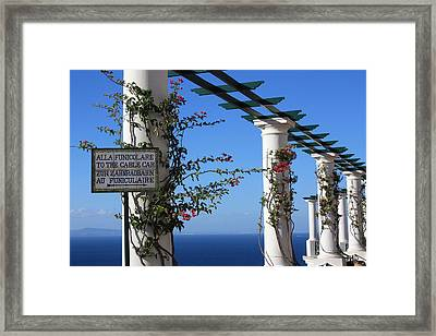 To The Funicolare Framed Print by Andrea Lucas