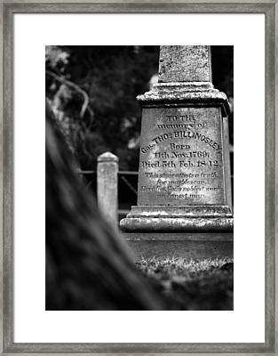 To The Memory Of Colonel Billingsley Framed Print