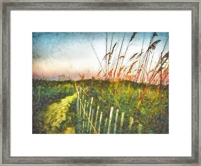 Framed Print featuring the painting To The Sea by Lynne Jenkins