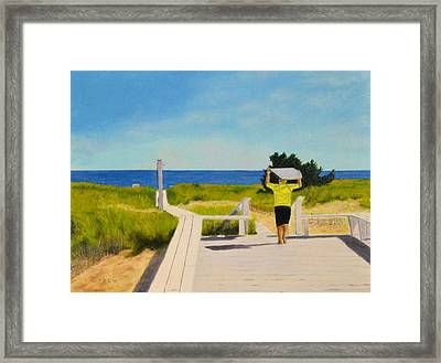 To The Surf Framed Print