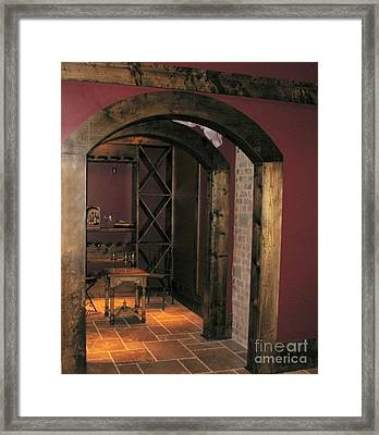 To The Wine Cellar Framed Print by Renee Trenholm