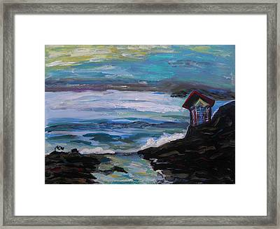 To Watch Beautiful Seas And Skies Framed Print by Mary Carol Williams