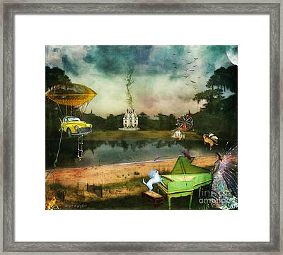 Framed Print featuring the digital art To Wish Impossible Things by Rhonda Strickland