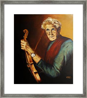 Framed Print featuring the painting To Your Lyrics I Am A Violin by Itzhak Richter