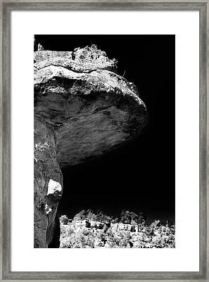 Toad Rock Framed Print by John Rizzuto