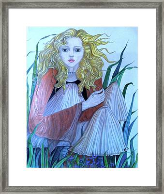 Toadstool Nymph Framed Print