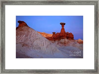 Toadstool Twilight Framed Print by Mike  Dawson