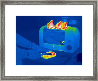 Toast, Thermogram Framed Print