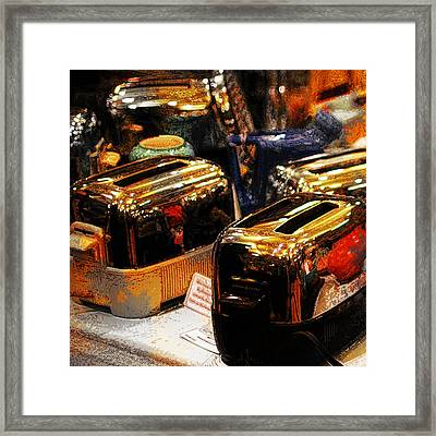Toasters Framed Print by Simone Hester