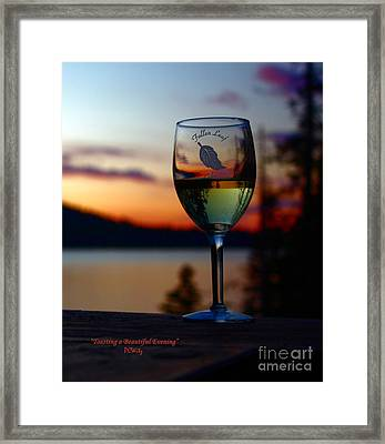 Toasting A Beautiful Evening Framed Print