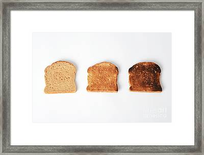 Toasting Bread Framed Print by Photo Researchers, Inc.
