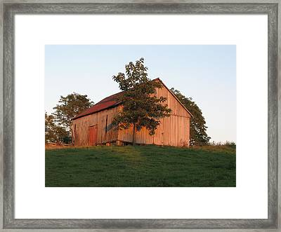 Tobacco Barn II In Color Framed Print