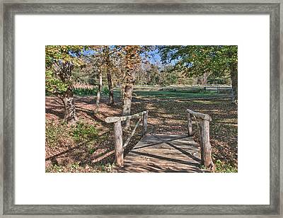Tobacco Field At Booker T. Washington Monument Park Framed Print by James Woody