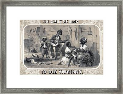 Tobacco Package Label Showing African Framed Print by Everett