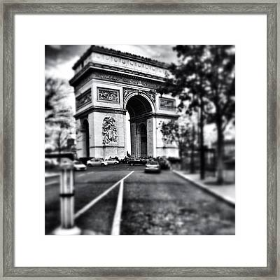 #today #paris #monument #bnw #monotone Framed Print