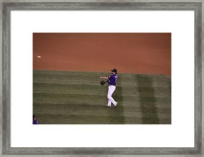 Todd Helton Framed Print by Cynthia  Cox Cottam
