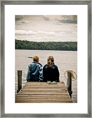 Toes In The Water Framed Print