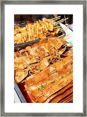 Tofu Skewers Framed Print