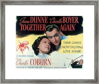 Together Again, Irene Dunne, Charles Framed Print