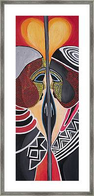 Together As One Framed Print by Chibuzor Ejims