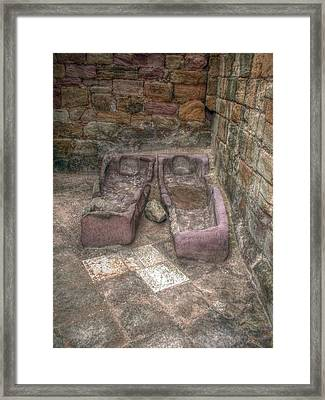 Together Even In Death Framed Print by Cindy Nunn