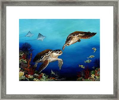 Together Framed Print by Sandra Camper