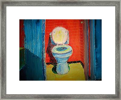 Toilet Painting Framed Print by John Geannaris