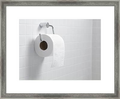 Toilet Paper Holder And Roll Framed Print