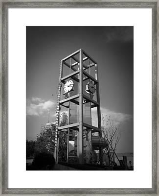 Tokyo City Clock Framed Print by Naxart Studio