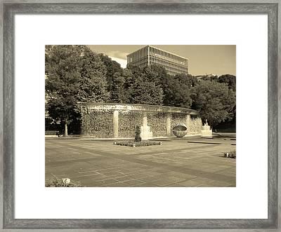 Tokyo Fountain Framed Print